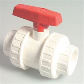 "AK white double union PVC 1 1/2"" ball valve"
