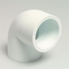 White Elbow 90° glue socket 1 1/2""
