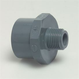 Hexagon adaptor spigot 75/63 mm x 1 1/2""