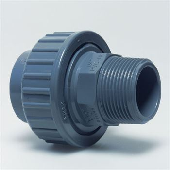 Grey Imperial Pool Fittings Male Threaded Adaptor Union With Oring For Pumps