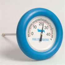 Mega floating round thermometer - Blue ring