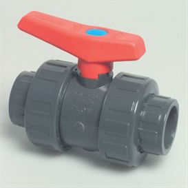 "Mega double union 1 1/2"" PVC ball valve"