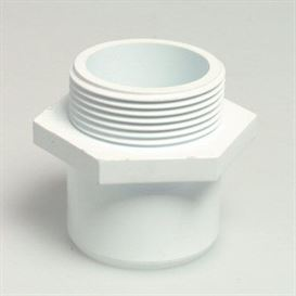 "White threaded adaptor 1 1/2"" x 1 1/2\"""