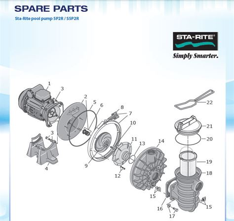 Sta-Rite Pool Pump Spares